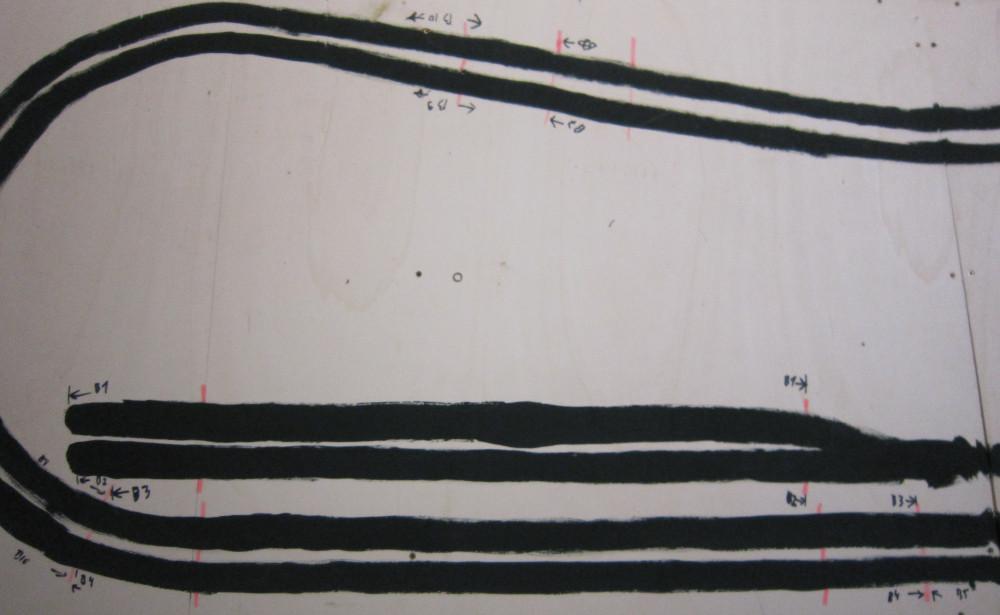 Detailbild dder Computer - Lern - Anlag auf dem man die position von Trennstellen und Blöcken erklennen kann.