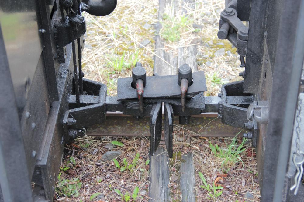 Die Kupplung zwischen zwei Wagons